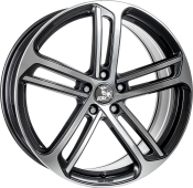 Ultra Wheels UA10 Gunmetal Front poliert