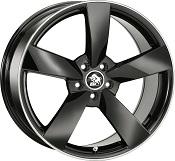 Ultra Wheels UA5 Schwarz m. poliertem Rand