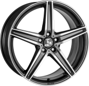 Ultra Wheels UA7 Gunmetal Front poliert