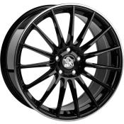 Ultra Wheels UA4 Schwarz m. poliertem Rand