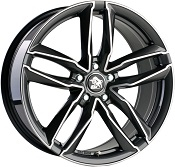 Ultra Wheels UA6 Gunmetal Front poliert