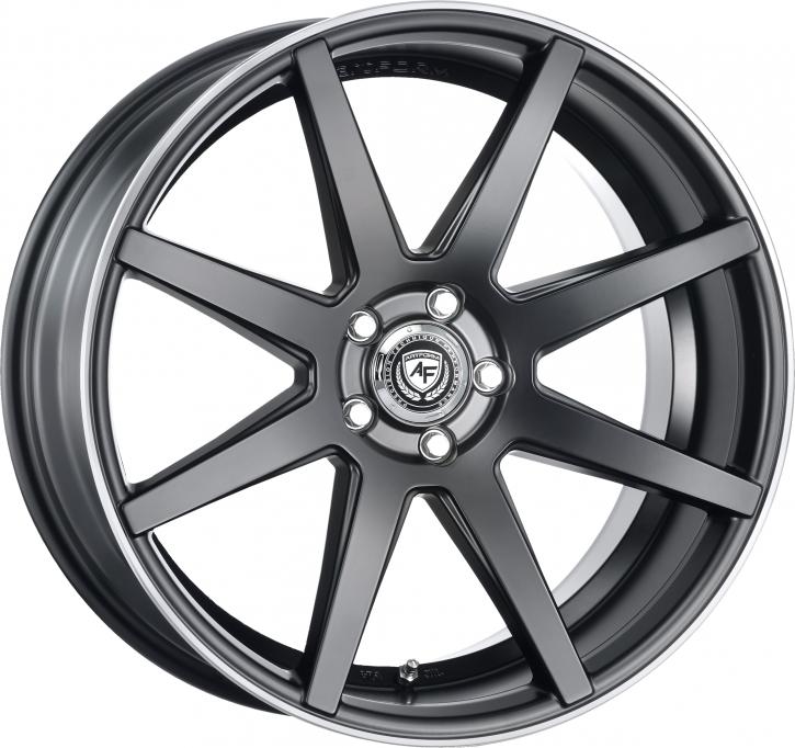 artFORM AF302 8,5x19 Flat Black rim polished