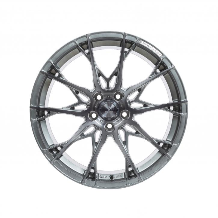 B52 Wheels X1 Reacher 8,5x19 Smoke brushed Aluminiumsilber