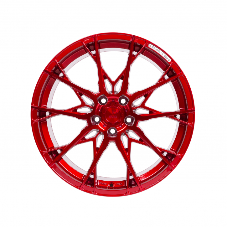 B52 Wheels X1 Reacher 8,5x19 Candyrot Hochglanzpoliert