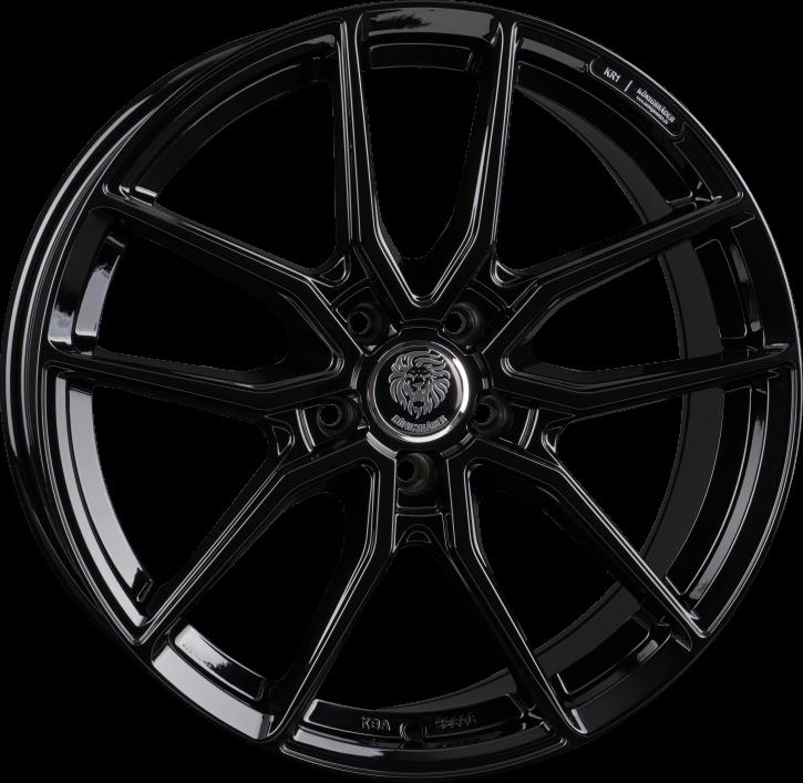 Königsräder KR1 7x16 Black Glossy