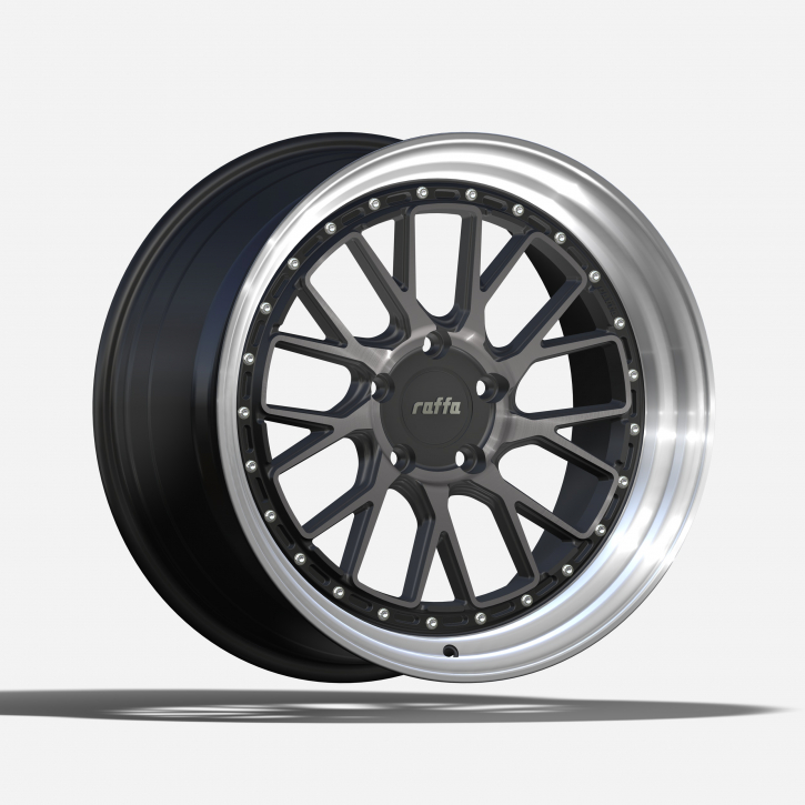 RAFFA WHEELS RS-03 8,5x19 DARK MIST RIM POLISHED