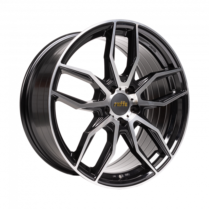 RAFFA WHEELS RS-04 8,5x19 BLACK POLISHED