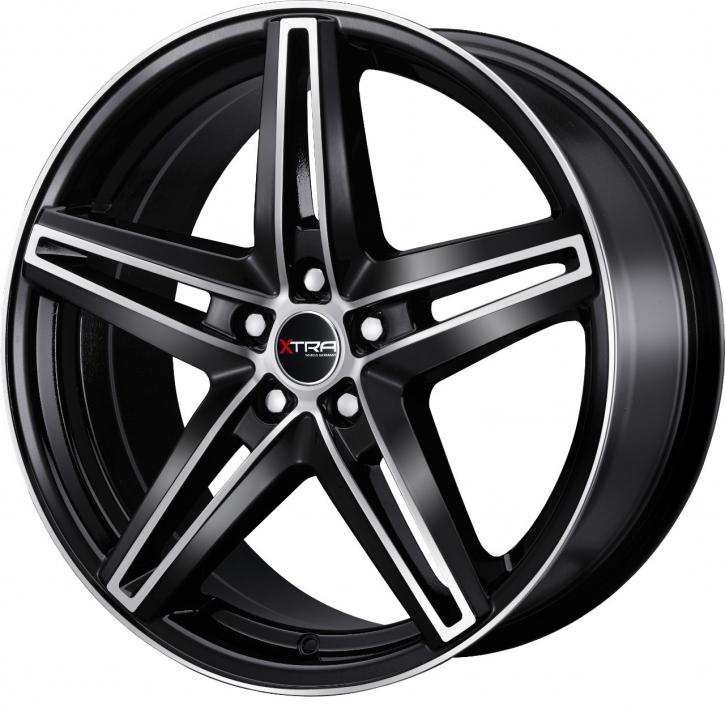 Xtra Wheels SW4 8x18 LK5x120 ET45 schwarz voll poliert