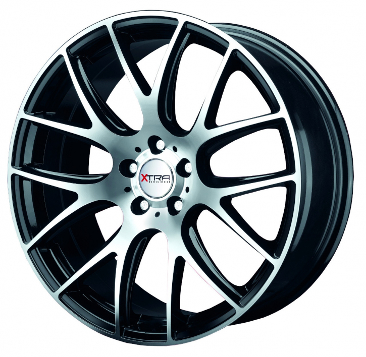 Xtra Wheels SW5 8,5x18 LK5x112 ET45 schwarz voll poliert