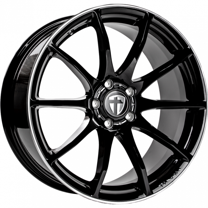 Tomason TN1 8,5x18 Black rim polished