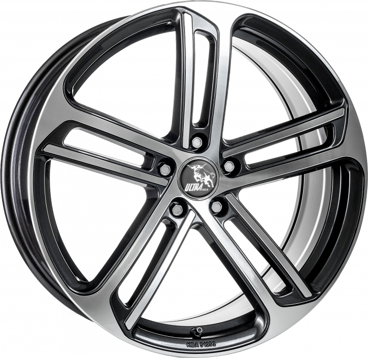 Ultra Wheels UA10 8x18 Gunmetal Front poliert