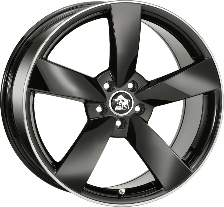 Ultra Wheels UA5 7x16 Schwarz m. poliertem Rand