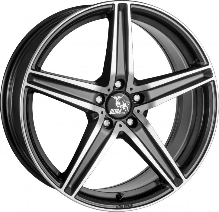 Ultra Wheels UA7 8x18 Gunmetal Front poliert