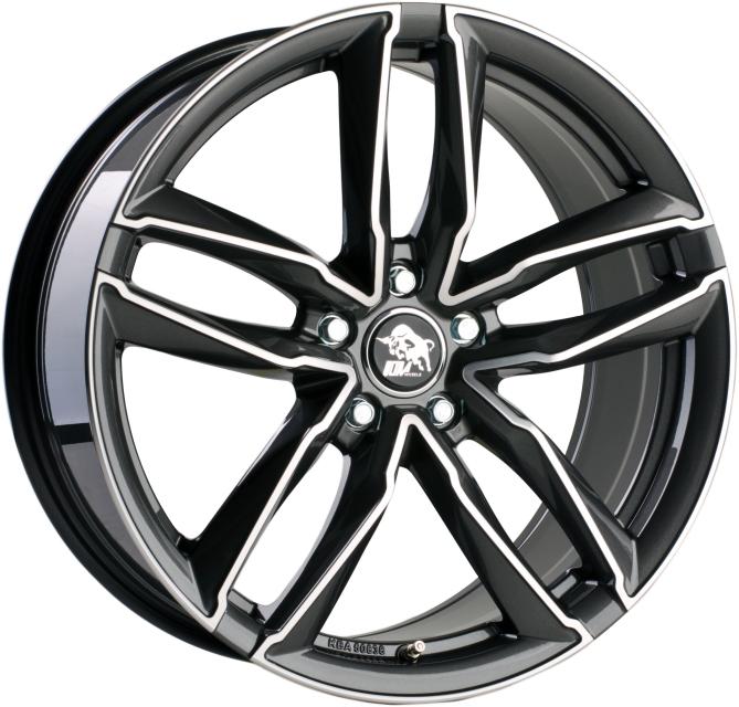 Ultra Wheels UA6 7,5x17 Gunmetal Front poliert