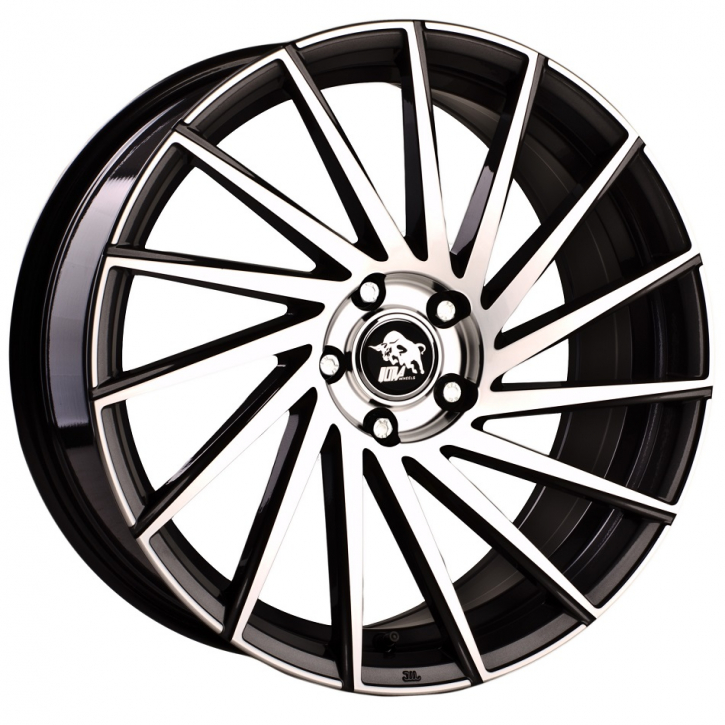 Ultra Wheels UA9 8x18 Gunmetal Front poliert Links
