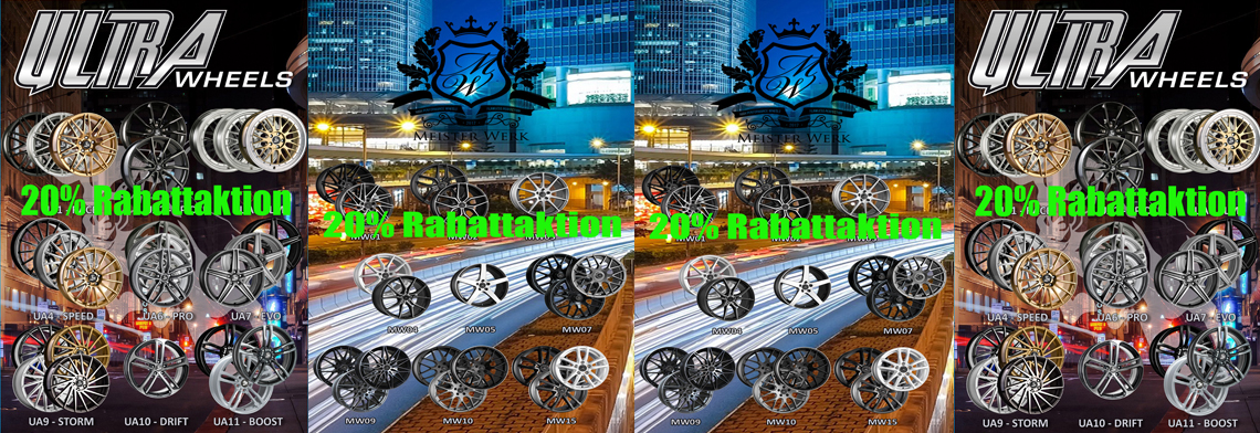 20% Rabatt Ultra Wheels & Meisterwerk