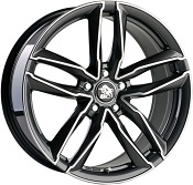 Ultra Wheels UA6 Gunmetal Front poliert